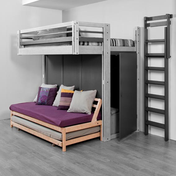lits mezzanines modulable. Black Bedroom Furniture Sets. Home Design Ideas