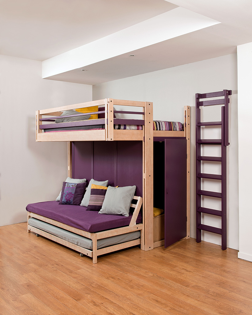 espace furniture. Attic Mezzanine With Loft, Retractable Ladder And Pull-out Bed Espace Furniture