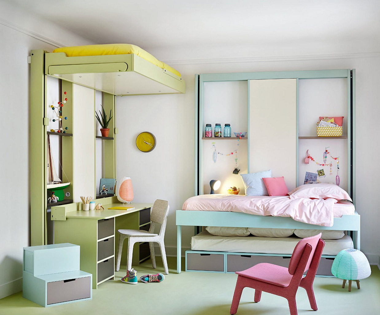 Lits escamotables champ libre for Image chambre enfant
