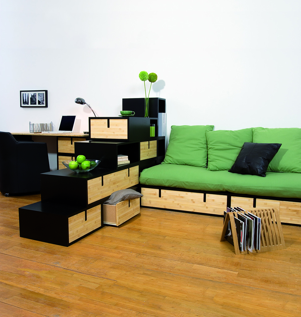 espace furniture. Desk, Room Partition And Bench Seating Made Of Brick Espace Furniture